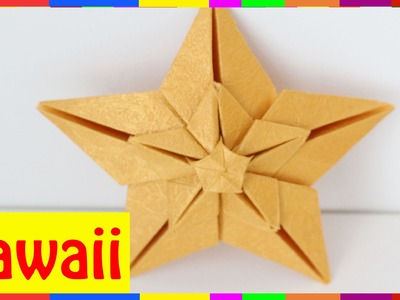 Origami Star 2 - How To Fold Star 2 (Origami Hawaii )