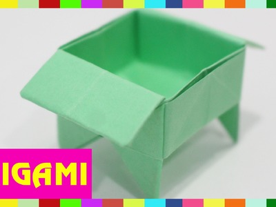 Origami Tray - How To Fold Tray  (Kasumi Paper)