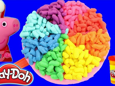PLAY Doh CAKE!! How to make Lollipop rainbow playdoh for Peppa Pig Toys Kids HD