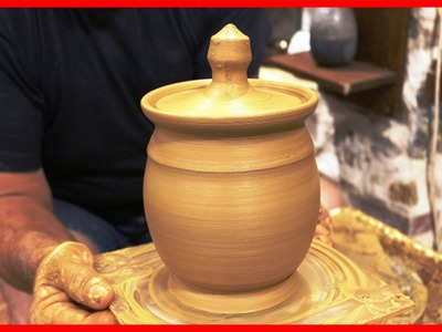 Pottery throwing - How to Make a Honey pot Honey Jar #72