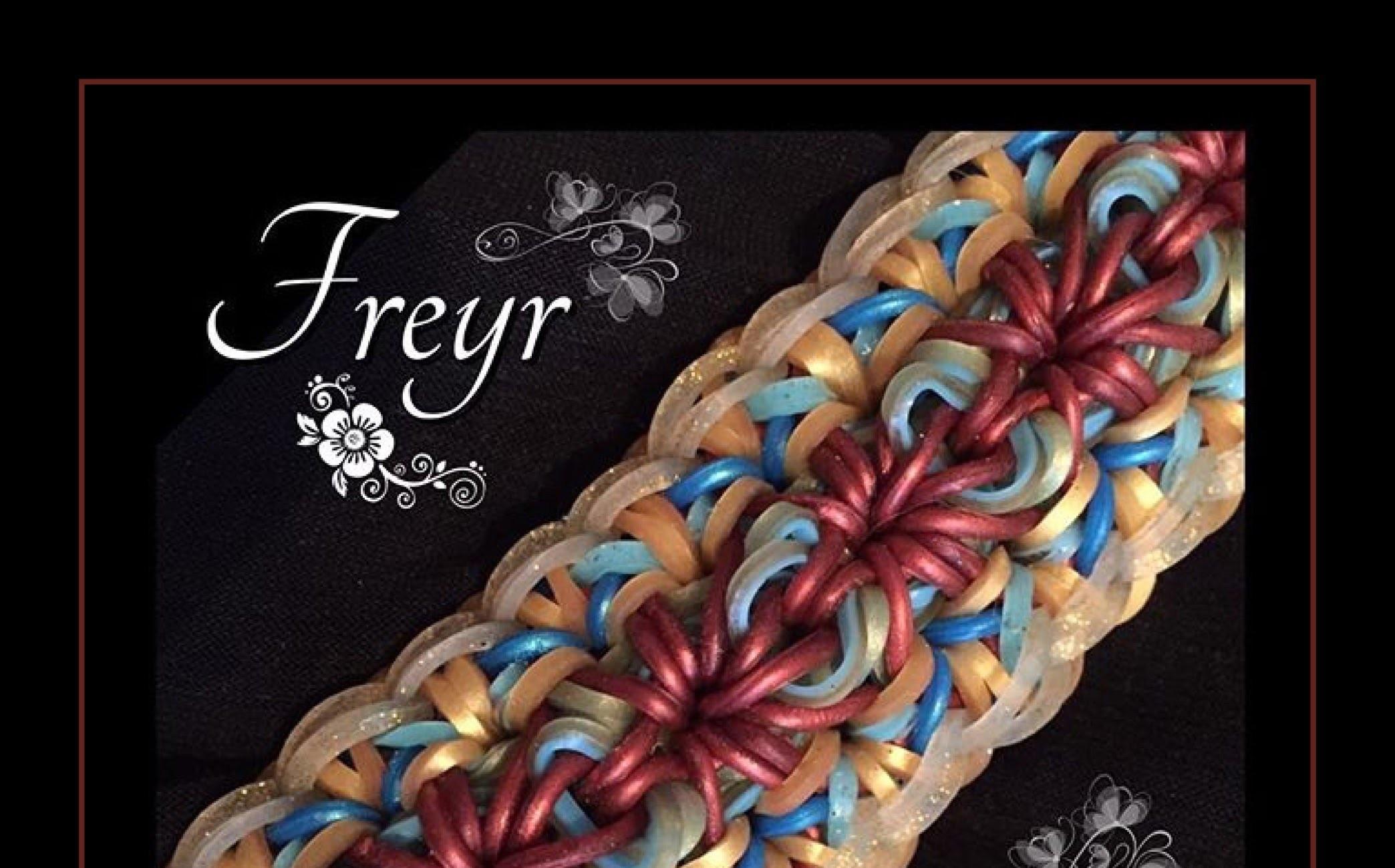 Rainbow Loom Band Freyr Bracelet Tutorial.How To