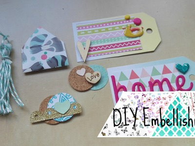 Scrapbook ♥ DIY Embellishments ♥ Collab with Ally Scianna ♥ SCM14