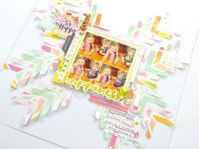 Scrapbook Process Video - Happiness Together; Hip Kit Club