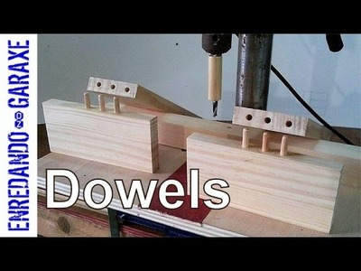 Some tests about how to make a dowel joint in the drill press