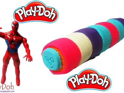 Spiderman Play Doh| How To Make Play Doh Ice Cream Rainbow With Molding Clay Toys Creative