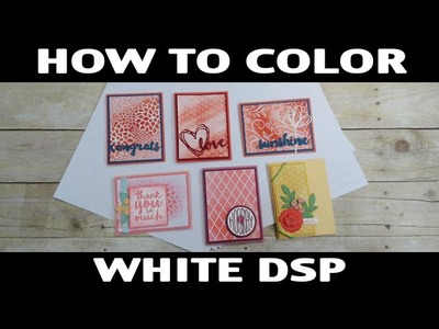 Stamping Jill - How To Color Designer Series Specialty Paper