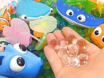 Wheels on the bus | DIY How To Make 'Finding Dory Robotic Fish Colors Orbeez Aquarium' Learn Colors