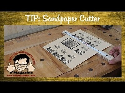 Woodworking Quick Tip- How to make a trimmer for sandpaper sheets
