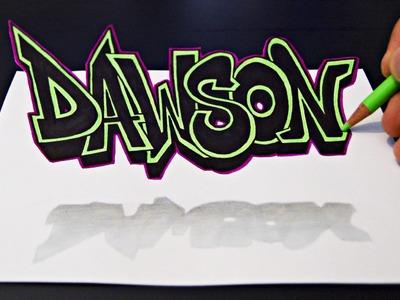 3D Graffiti Art On Paper | Zeichnen
