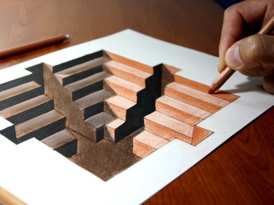 3D Trick Art on Paper, Hole