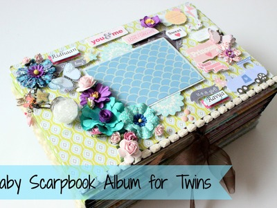 Baby Scrapbook Album for Twin Babies  | Big Size | Paper Crafts