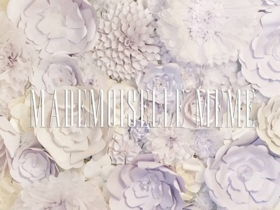 BTS: How to Make a Paper Flower Wall