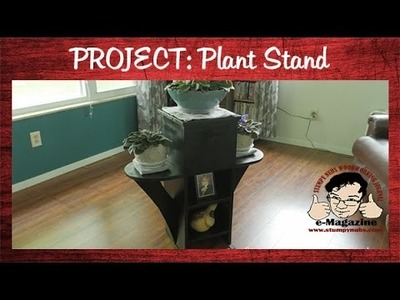 Building a plant stand for Mrs. Mustache- DIY Woodworking Project.