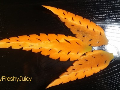 Carrot Leaf Carving & Designing Lesson - How To Carve Carrot