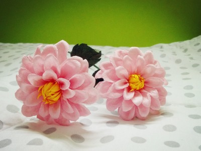 Dahlia Flowers With Twisted Paper - Craft Tutorial