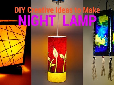 DIY creative ideas to make night lamp - recycle paper | reuse