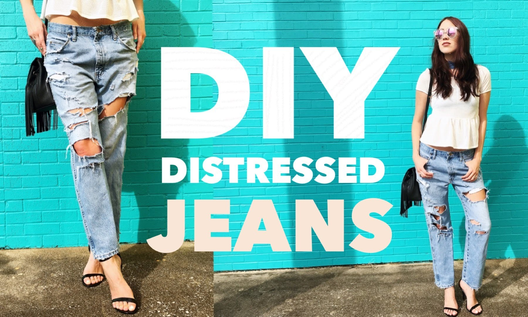 Diy Distressed Jeans Easy Tutorial Try On
