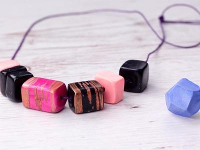 DIY Geometric Polymer Clay Jewelry