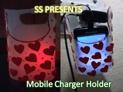 DIY  Recycled cell phone charging holder