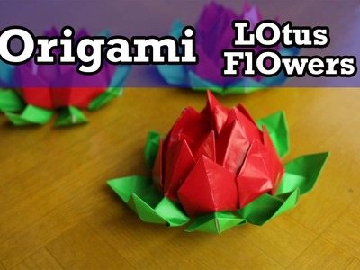 Easy origami How to make lotus flower