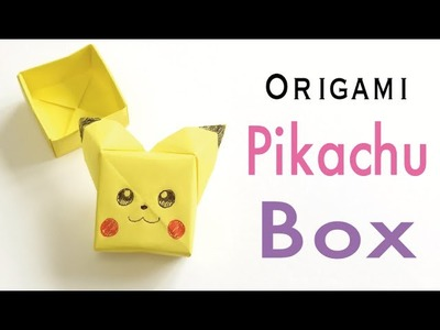 "Easy☺︎ Origami Paper Pokemon ""Pikachu"" Box With Lid Tutorial - Origami Kawaii〔#161〕"