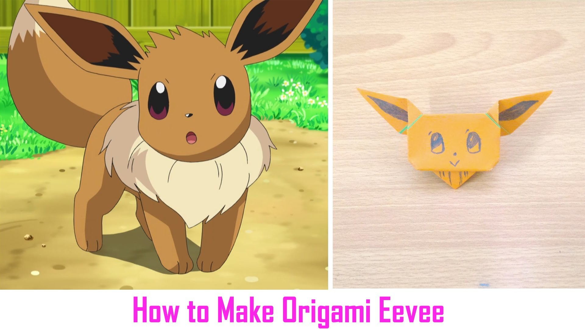 origami easy origami tutorial how to make origami eevee
