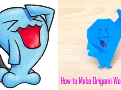 Easy Origami Tutorial -  How to Make Origami Wobbuffet ( Pokemon GO )