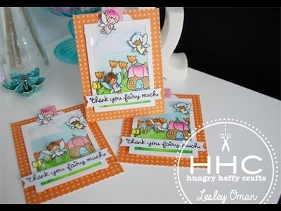 Fairy Teacher Cards- with gift card- Lawn Fawn, HoneyBeeStamps, Paper Smooches