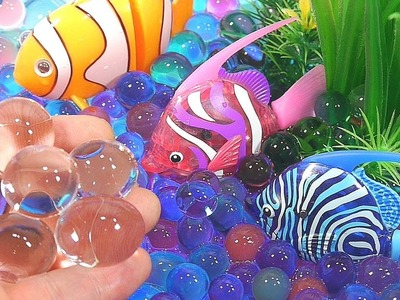 Finger Family song | DIY How To Make 'Real Robotic Fish Colors Orbeez Aquarium' Learn Colors Slime