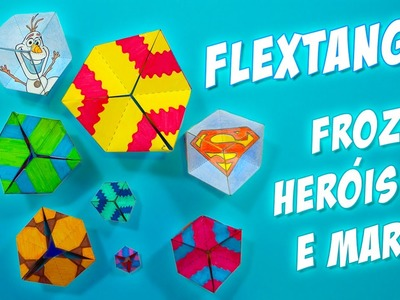 Flextangle paper toy to spin endlessly! Frozen and Heroes Templates Only Here! Kaleidocycle - DIY