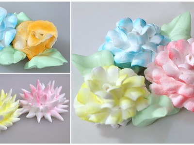 Fresh Cream Icing Flowers - How To Make Easy Frosting Flowers - Cake Decorating Tutorial