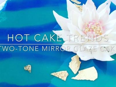 HOT CAKE TRENDS 2016 Two-tone Mirror Glaze cake - How to make by Olga Zaytseva