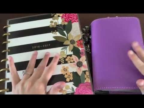 How I'm Using My Happy Planner and Personal Filofax - Planner Setup Walk Through - Part 1
