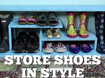 How to Build a Stylish Shoe Rack