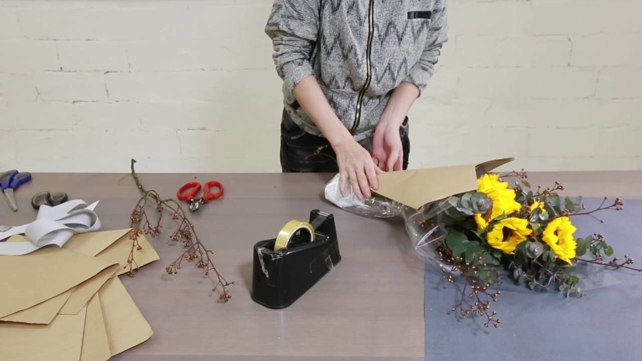 How to create a beautiful Mini Sunflower Bouquet