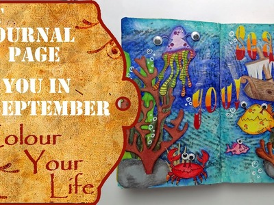 How to create an Art Journal Page - Sea You in September