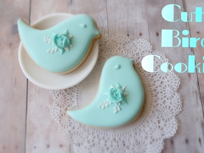 How to decorate bird cookies.My little bakery.