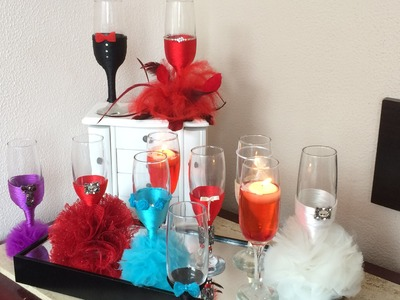 How to decorate glasses for wedding  turorial 1.3