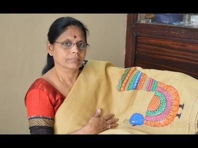 How to do? Madhubani painting in Saree.