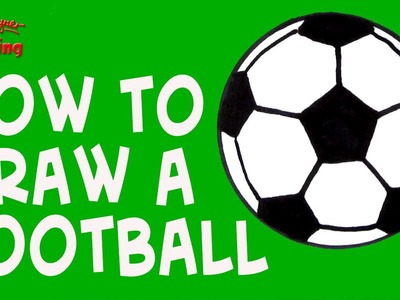 How to draw a Football  - Easy Like a Sunday Morning #2