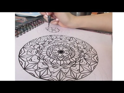 HOW TO DRAW A MANDALA - a simple tutorial for beginners