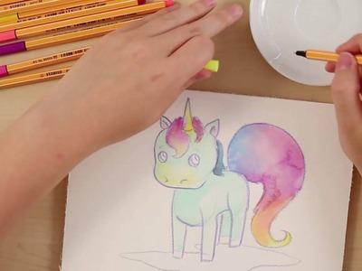 How to draw a unicorn (STABILO Tutorials, intermediate)