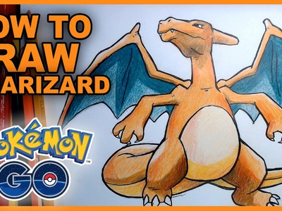 How To Draw Charizard! Epic Pokemon Go Fan Art Tutorial
