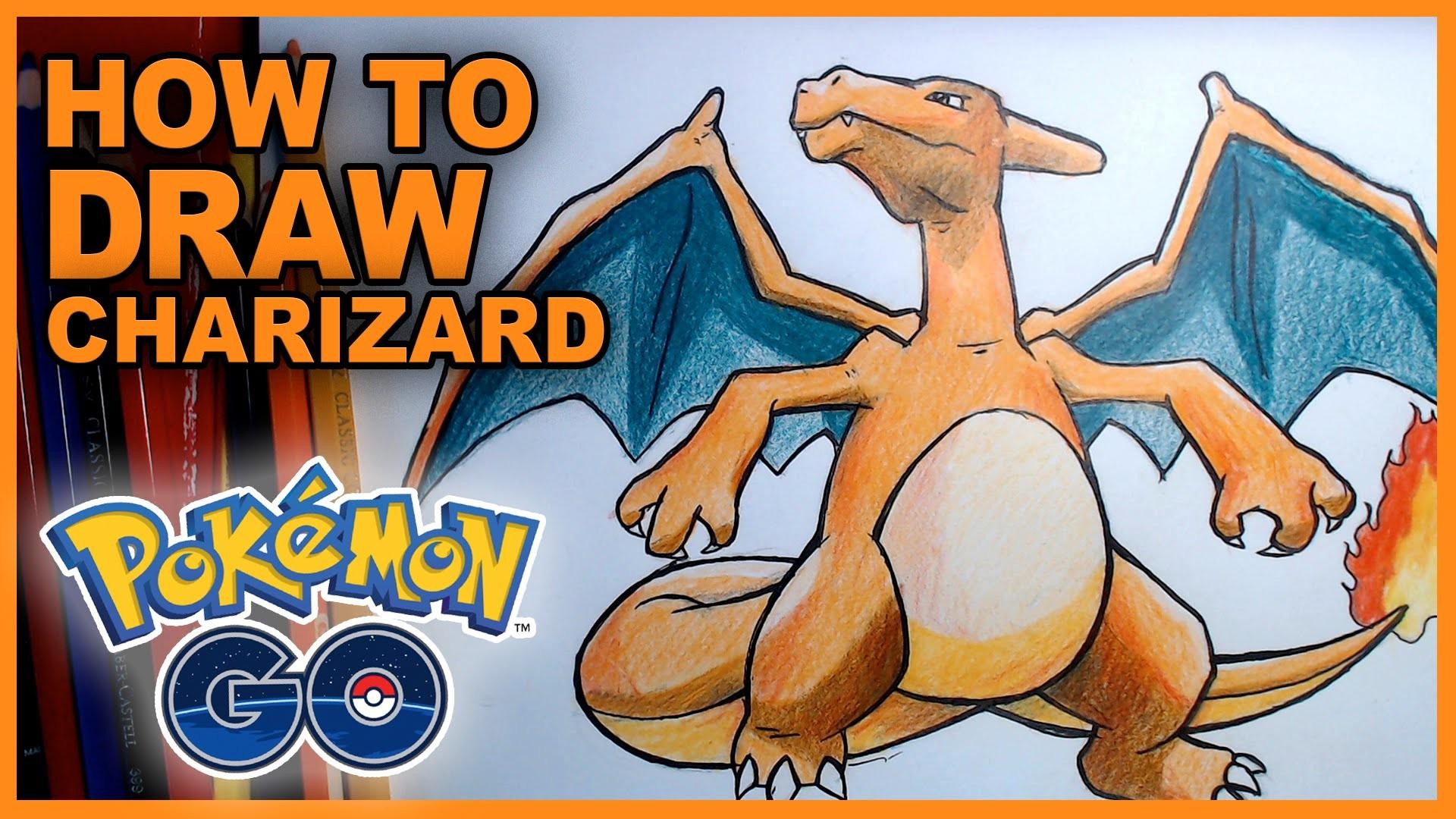 How To Draw Charizard! Epic Pokemon Go Fan Art Tutorial