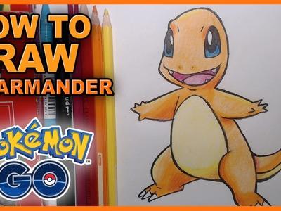 How To Draw Charmander! - Pokemon Go Fan Art! Gotta Draw Em All!