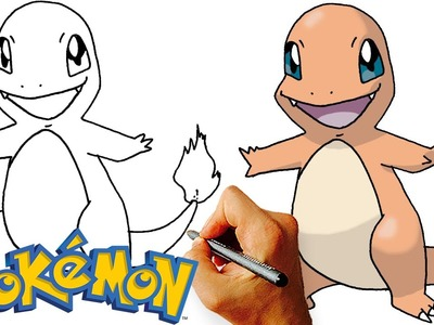 How to Draw Charmander Step by Step (Pokemon)