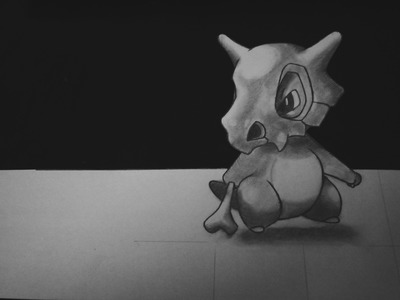How to draw Cubone - Pokemon GO ver 3D