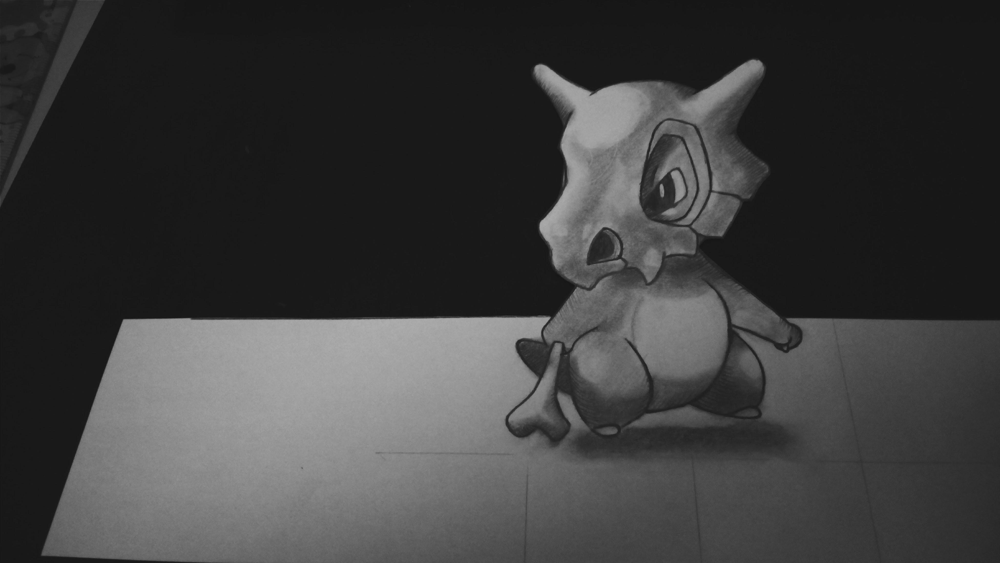 How to draw Cubone - Pokemon GO ver 3D