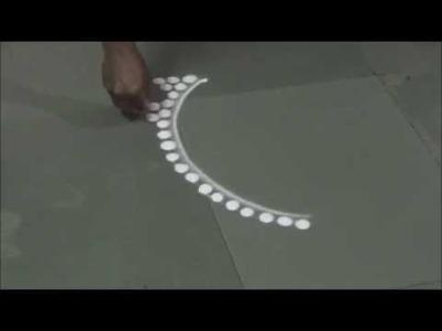 How to draw Necklace Rangoli Unique Rangoli Designs Super Creative Rangoli