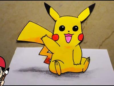 How To Draw Pikachu Step By Step   Pokemon Go 3D